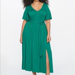 ELOQUII Flutter Sleeve Maxi Dress 14/16